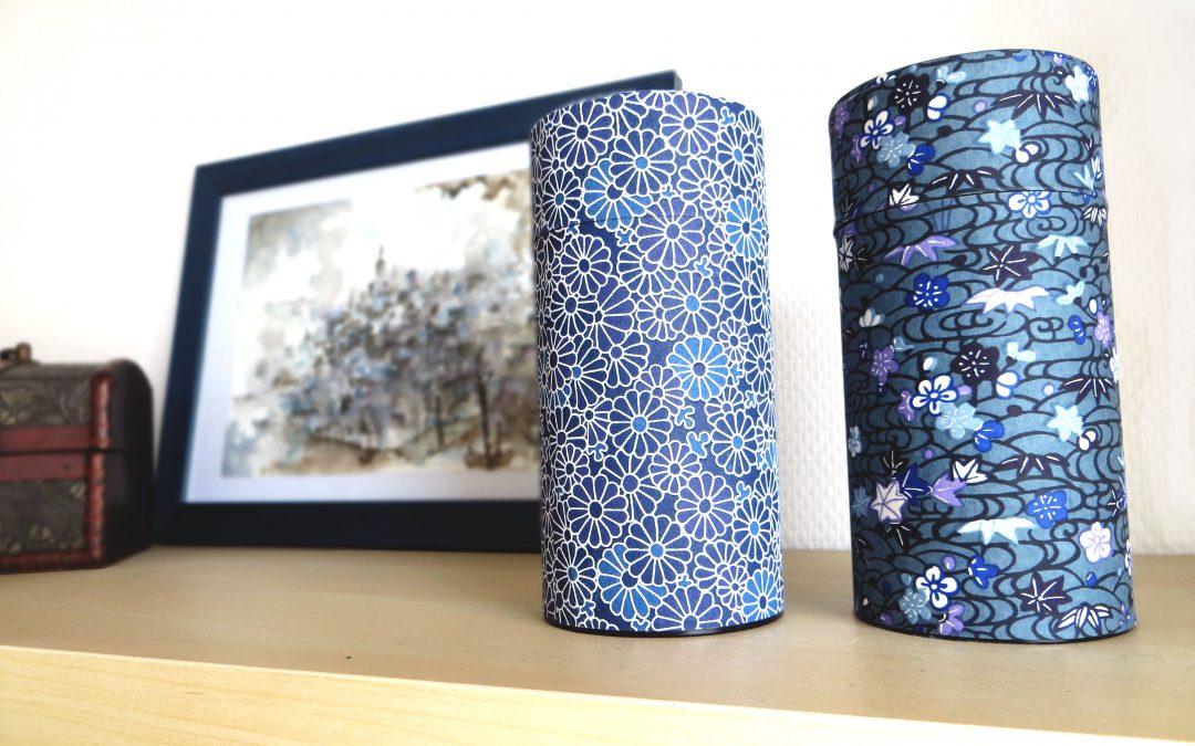 Idée déco : boîte à thé décor papier japonais