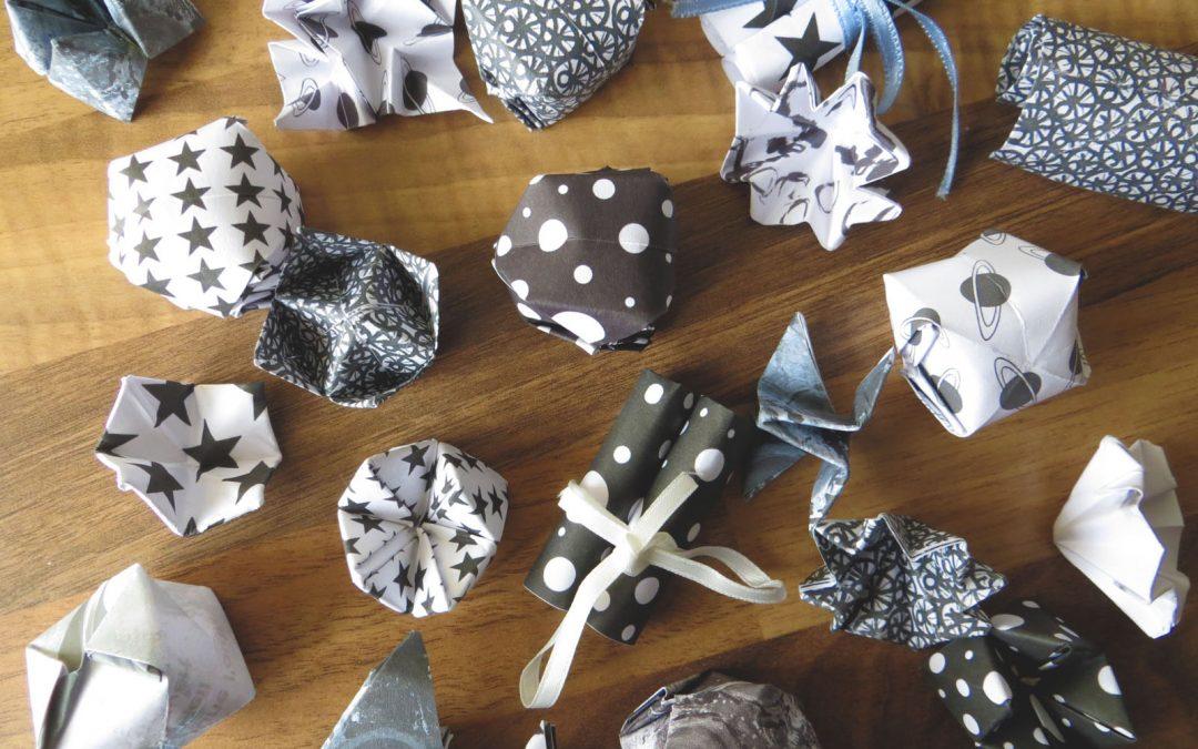 Citations décoratives en Origami