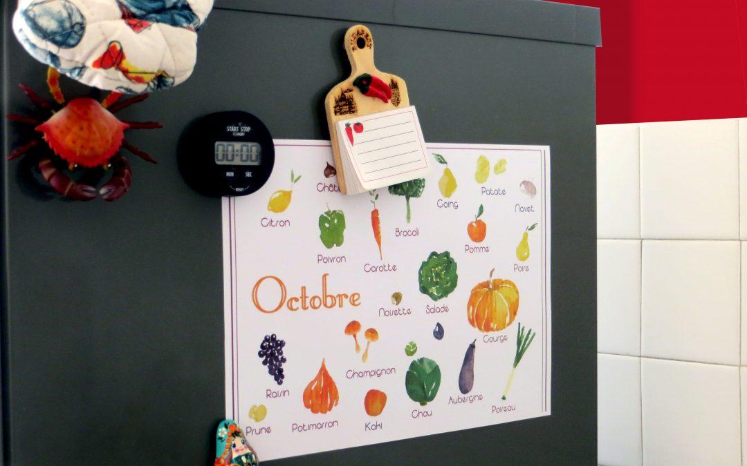 Idée déco : le calendrier illustré des fruits et légumes de saison