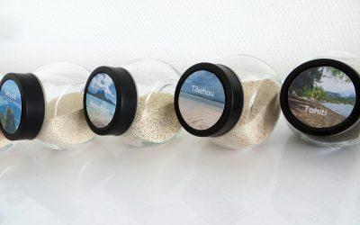 Idée déco : bocaux de sables et de coquillages